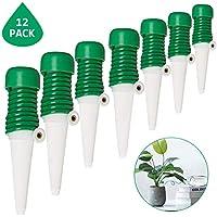 Minetom Automatisch Bewässerung 12 Stück Wasserspender Automatisch Bewässerungssystem für Keramik Zimmerpflanze Spikes Bewässerung Pflanze Blumen Bonsai