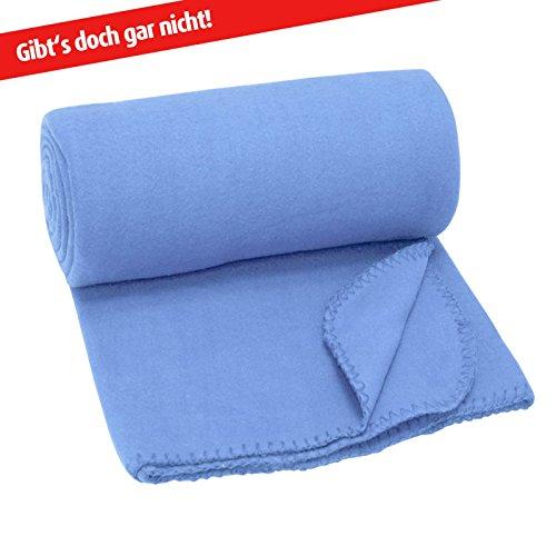Fleecedecke BASIC - blau - 130x160 cm