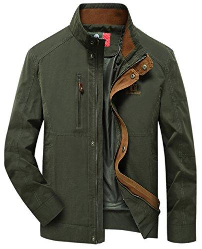 YYZYY New Herren Baumwolle Frühling Herbst Military Stil Bomber Classic Softshell Jacken Mantel Mens Jacket