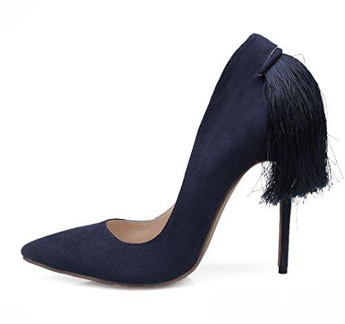 TDA , Sandales Compensées femme bleu foncé