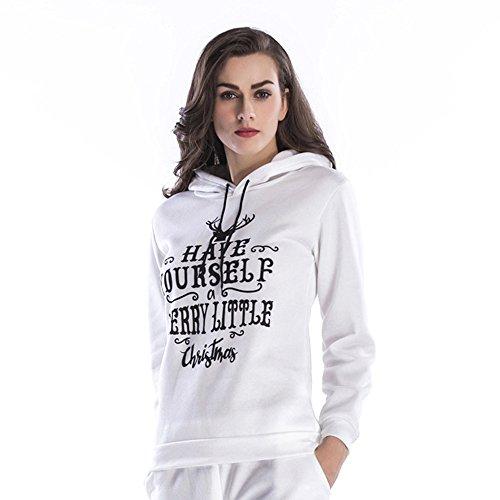 Christmas Sweater Damen UFODB Frauen Sweatshirt Hochwertiger Kapuzenpullis Sweatjacket Hoodie Mit Kapuze Outwear Weihnachten Sport Freizeit Hooded Loose Tops