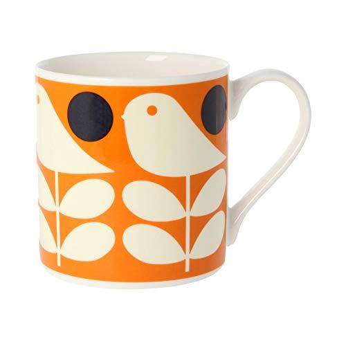 Orla Kiely Early Bird Orange, Mug en porcelaine anglaise
