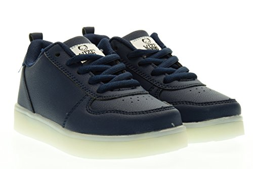 WIZE & OPE junior sneakers basse LED EARTH MADE BLU 31 Blu