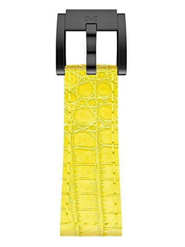 TW Steel Marc Coblen Armband Uhrenband Leder 22 MM Kroko gelb LB_Y_K_B