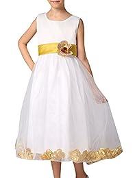 Niñas Vestido Elegante De Flores Para Fiesta Boda Bautizo Vestido De Princesa Para Dama De Honor