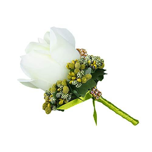 Einzelne Rose Form Braut Bräutigam Ansteckblume Brosche Pin Hochzeit Boutonnière 12 * 7cm ()
