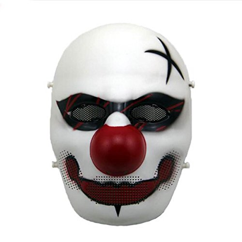 H world ue airsoft tactical full face protettiva spaventoso clown maschera per costume cosplay halloween, e