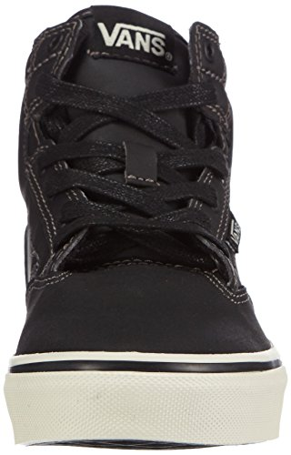 Vans Y WINSTON Unisex-Kinder Hohe Sneakers Schwarz (Leather black/antique)