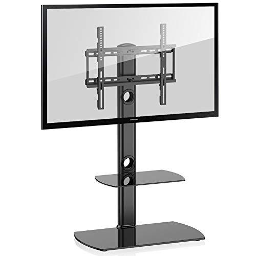 FITUEYES TV Ständer TV Stand TV Standfuss Fernseher Ständer Glas 32 bis 50 Zoll schwenkbar höhenverstellbar TT206501GB