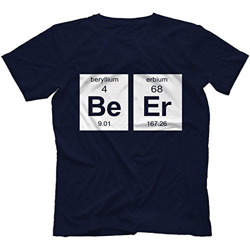 Beer Element T-Shirt Uomo Blu Navy