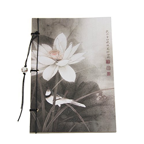 starsource-vintage-flower-printed-soft-cover-sketch-drawing-jotting-binding-kraft-book-pad-diary-not