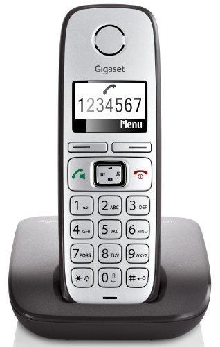 Gigaset E310 Telefon - Schnurlostelefon/Mobilteil - Grafik Display - Grosse Tasten Telefon - Freisprechfunktion - Analog Telefon - schwarz