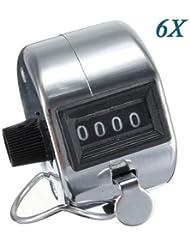 TOOGOO (R) 6 de metales manual contador contador 4 de Palm Golf Club Clicker