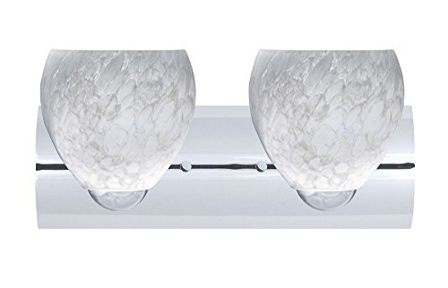 Besa Lighting 2WZ-412219-LED-SN 2X6W Gu24 Led Bolla Wall Sconce with Carrera Glass, Satin Nickel Finish by Besa - Gu24 Satin