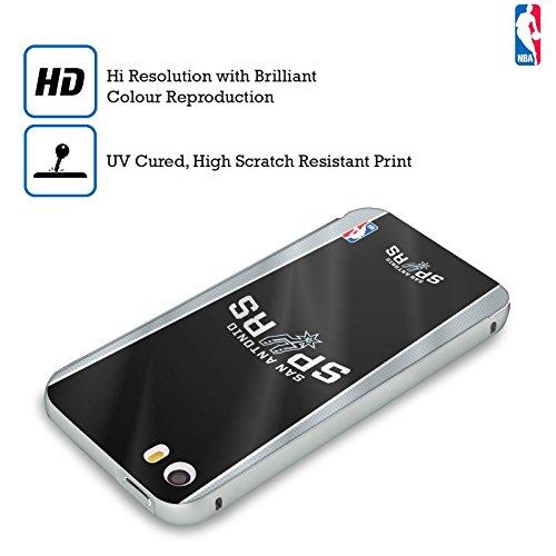 Ufficiale NBA Rovinato San Antonio Spurs Argento Cover Contorno con Bumper in Alluminio per Apple iPhone 5 / 5s / SE Banner