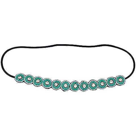 Accesorios Lux Tribal Seed Bead Disco Cristal elástico diadema