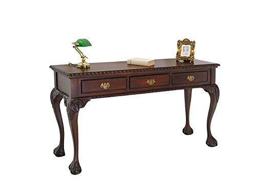 Wandtisch im Chippendale Stil aus Massivholz im Nussbaumfarbton
