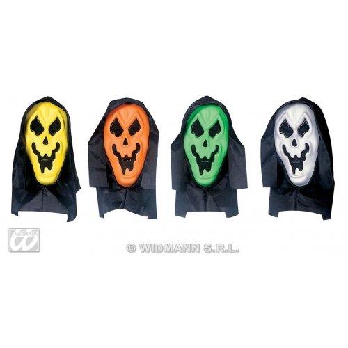 Widmann-Maske Geist mit Kapuze, Mehrfarbig, 004.wd6739F