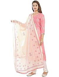 Nayrah womens kurti, pyjama with dupatta set