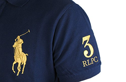 RALPH LAUREN Herren kurzarm Poloshirt Custom Fit W1A1A/B Navy