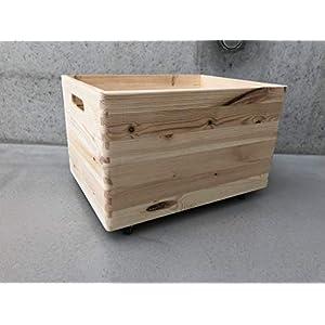Holz Spielzeugkiste Blanco – Rollen Triangel skandinavisch