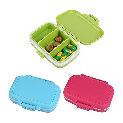 AOLVO 7 Tage Weekly Pille Box Container, Pille Fall für Vitamin Nahrungsergänzungsmittel Medikamenten Medizin Organizer Wochentag Pille Aufbewahrungsbox rot - 7 Tage Pille Fall
