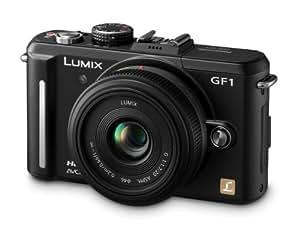 "Panasonic Lumix G DMC-GF1CEG-K Compact hybride avec objectif pancake 20mm F1.7 HD 720p 12.1 Mpix Ecran LCD 3"" Noir"