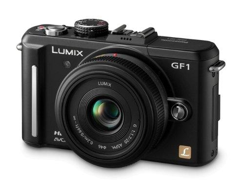 Panasonic Lumix DMC-GF1 Systemkamera (12 Megapixel, 7,6 cm Display, HD-Video, LiveView) Gehäuse mattschwarz mit 20mm / F1,7 ASPH-Objektiv