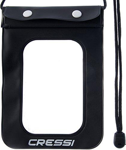 Cressi Waterproof, Custodia Impermeabile per Cellulari/Smartphone Unisex Adulto, Confezione 1X Nero, Taglia Unica
