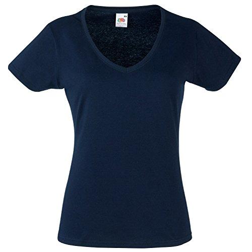 Fruit of the Loom - T-shirt -  Femme Bleu - Deep Navy