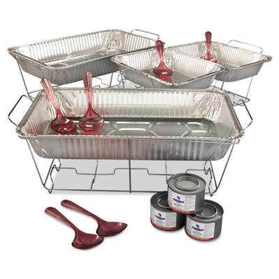 24-Piece Kingsmen Chafing Rack Kit by Maryland Plastics Inc. Chafing Rack