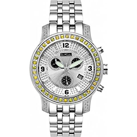 Joe Rodeo diamante orologio da uomo–2000Argento 2Cassette