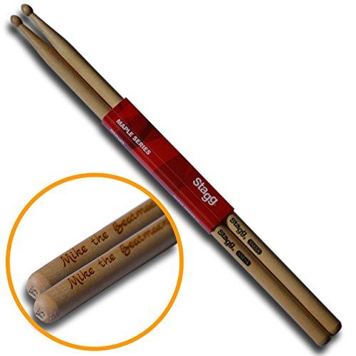 Original STAGG Drumsticks 5A personalisiert mit deiner Wunschgravur   Das Geschenk für Drummer, Schlagzeuger und Trommler