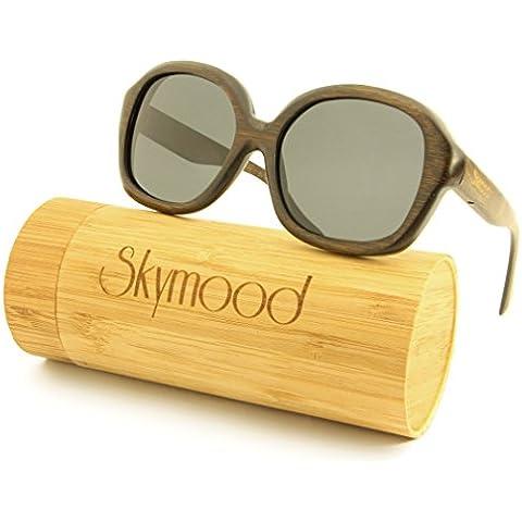 SKYMOOD legno-Occhiali da sole con lenti polarizzate,