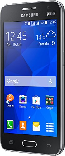 Samsung Galaxy Core 2 Duos Smartphone (11,4 cm (4,5 Zoll), 1,2GHz Quad-Core Prozessor, 5 Megapixel Kamera, 0,3 Megapixel Frontkamera, Touchscreen, Android) schwarz -