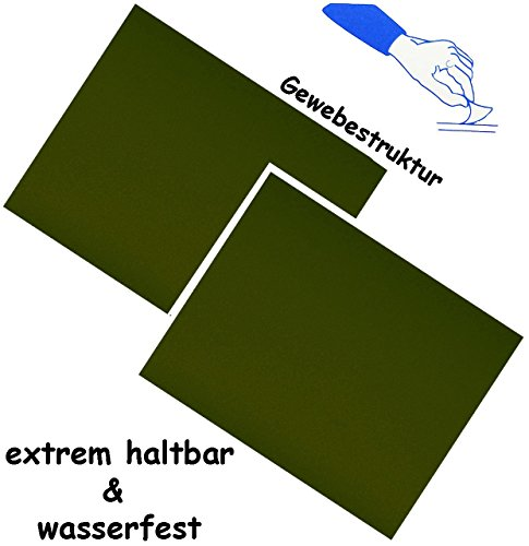 2-stuck-selbstklebende-reparatur-sticker-festes-stabiles-camping-nylon-dunkel-grun-khaki-wasserfest-