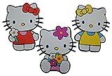 3 tlg. Set 3-D Wandtattoo Hello Kitty XXL Moosgummi Kind Kinder Mädchen Katze