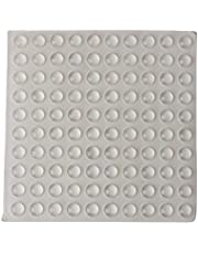 Magideal Round Adhesive Silicone Bumper Door Cabinet Drawer Safety Stopper Mute Buffer (3x8 mm, Clear) -Set of 100 Pieces, 1 Sheet