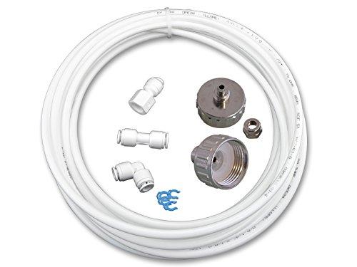Wasserzulaufleitung Universal Anschluss-Set für Kühlschrank Side by Side. Wasserschlauch 6,4mm(14