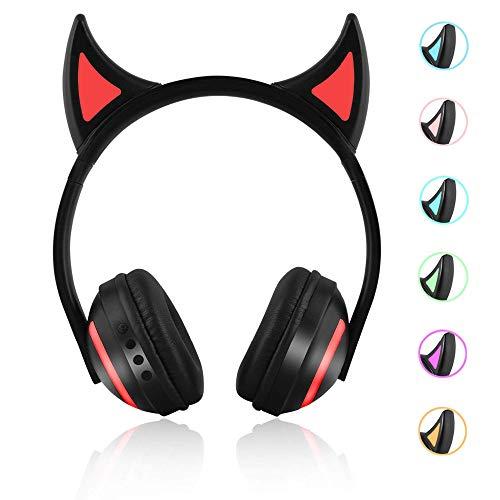 RONSHIN Elektronisches Zubeh?r Bluetooth Stereo Katzenohr-Kopfh?rer blinkend leuchtende Katzenohr-Kopfh?rer Gaming Headset Kopfh?rer Kopfh?rer mit 7 Farben LED-Licht
