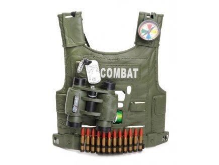Imagen de johntoy  kit de disfraz de soldado chaleco, prismáticos, brújula, cartuchos