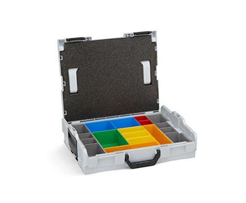 Sortierboxen für Kleinteile | L-BOXX 102 (grau) mit Insetboxenset H3 | Profi Werkzeugkoffer leer...