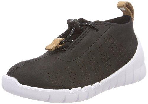 Clarks Jungen Sprint Elite Sneaker, Schwarz (Black Nubuck), 28 EU -