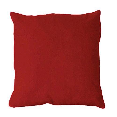 Hahn Haustextilien Jersey Kissenbezug 70x90 cm in 235 Rot