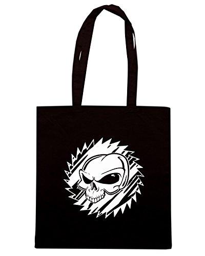 T-Shirtshock - Borsa Shopping FUN0554 alien skull 2 vinyl decal 73017 Nero
