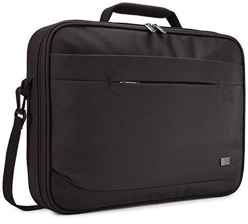 Case Logic Advantage Clamshell 15,6 Zoll Laptoptasche mit Einschubtasche für Tablet und Vorderfach für Kleingeräte Schwarz Clamshell Case