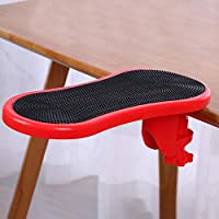 6SHINE Home Hand Shoulder Protect Wrist Rest Mouse Pads Easy To Install Computer Table(Red)
