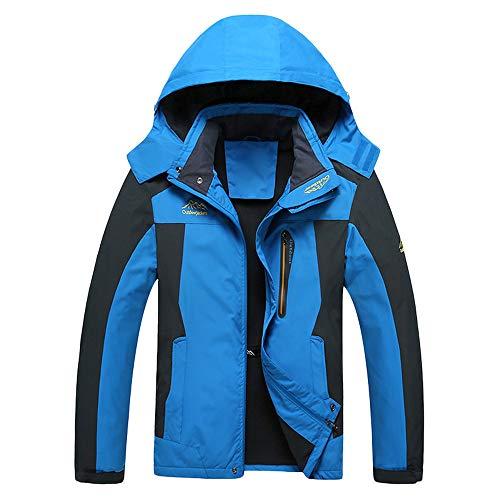 Artistic9-Kleidung Herren Jacke Outdoor Wasserdichte Wanderjacke Warmer Mantel Jacke mit Kapuze für Winterwandern Ski Sports