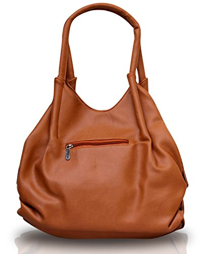 Fostelo-Womens-Style-Diva-Shoulder-Bag-Tan-FSB-396