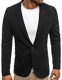 OZONEE Herren Sakko Business Anzug Kurzmantel BLACK ROCK 01